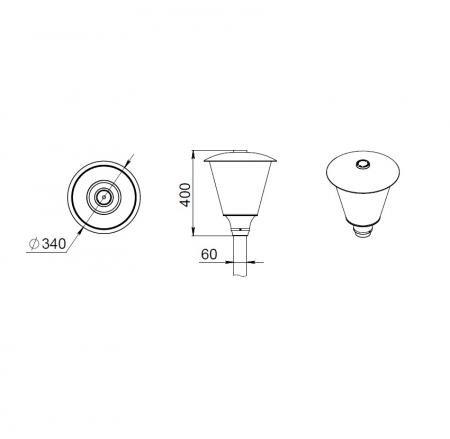 Светодиодный светильник ДТУ 05-40-50